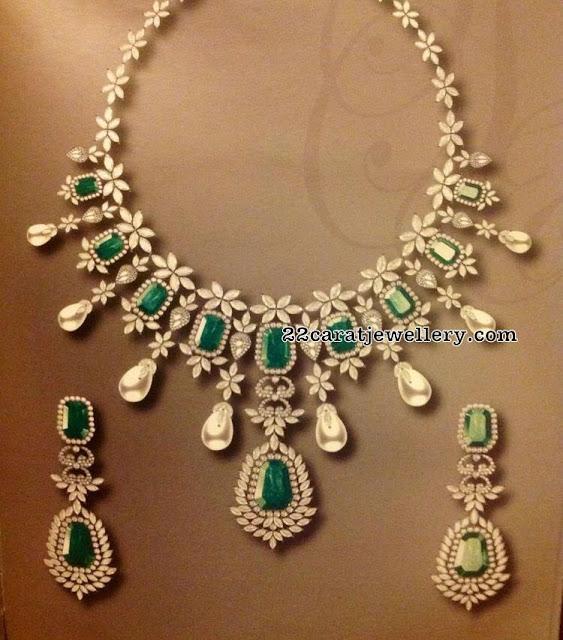 Diamond Zambian Emerald Rich Necklaces