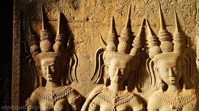 Angkor wat, figuras, reinas