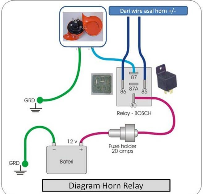 Diagram Horn Kereta - Wiring Diagram Write