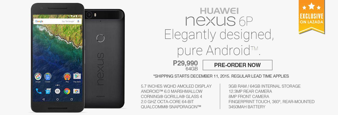 Huawei Nexus 6P at Lazada.com.ph!