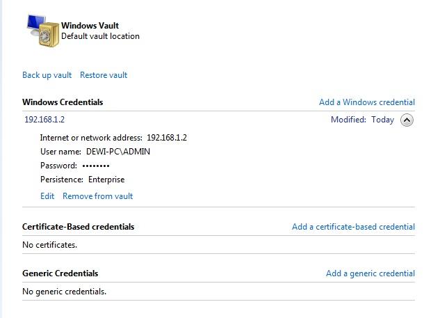 Windows Vault