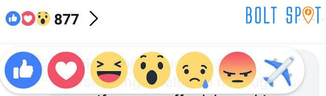 Reaksi Emoticon Pesawat di Facebook