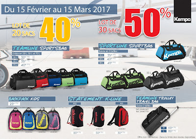 Promo Sacs KEMPA : Jusqu'à 50% de remise ! Du 15 Février au 15 Mars.