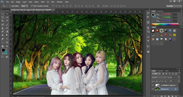 cara mengganti background pada foto