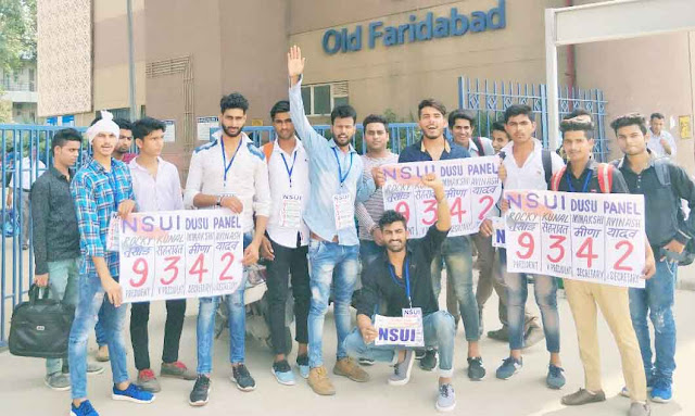 nsui-election-campaign-for-dusu-election-2017-in-faridabad