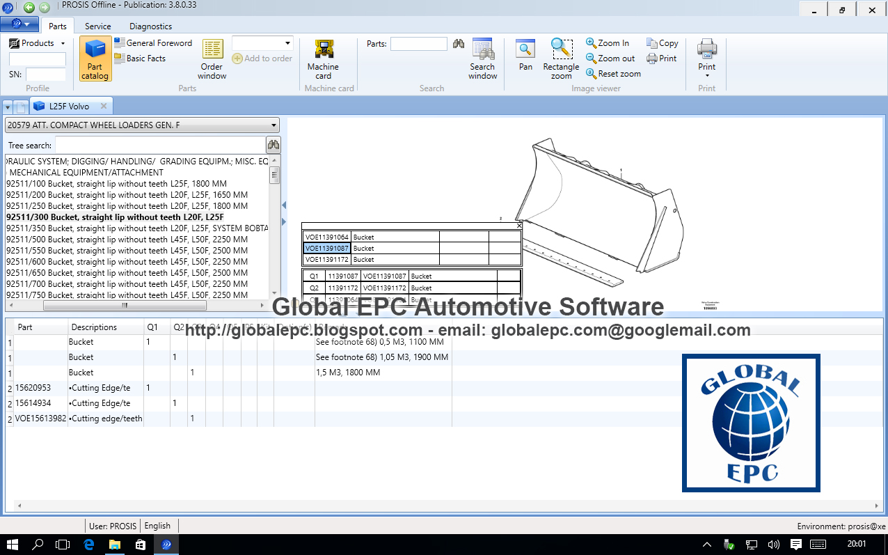 Global Epc Automotive Software 2016 Volvo L50d Loader Wiring Diagram Media 3 Dvd Discs Prosis Offline 012015