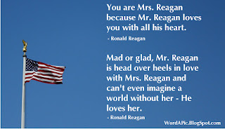 President Ronald Reagan Quote about love