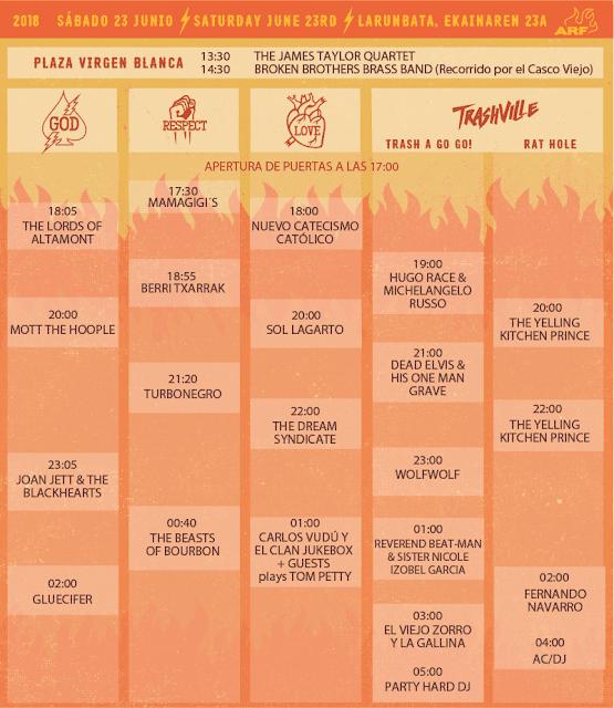 azkena, rock, festival, 2018, guía, llegar, comer, camping, entradas, vitoria, horarios, cartel, joan jett, van morrison, turbonegro, mc50
