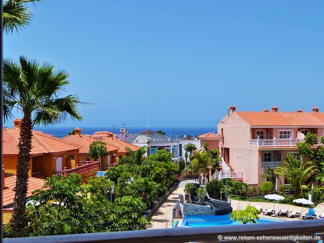 Urlaub an der Costa Adeje Teneriffa - Hotelzimmer mit Meerblick