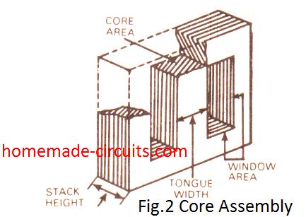 Transformer Core Assembly Diagram
