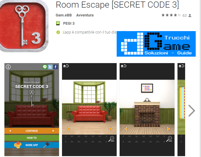 Soluzioni Room Escape Secret Code 3 di tutti i livelli | Walkthrough guide