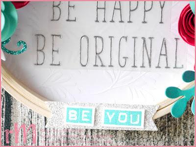 Stampin' Up! rosa Mädchen Kulmbach: Deko Stickrahmen mit Spruch und Blumen: Labeler Alphabet, BigZ Spiralblume, Thinlits Erntedank und Framelits Schöner Strauß