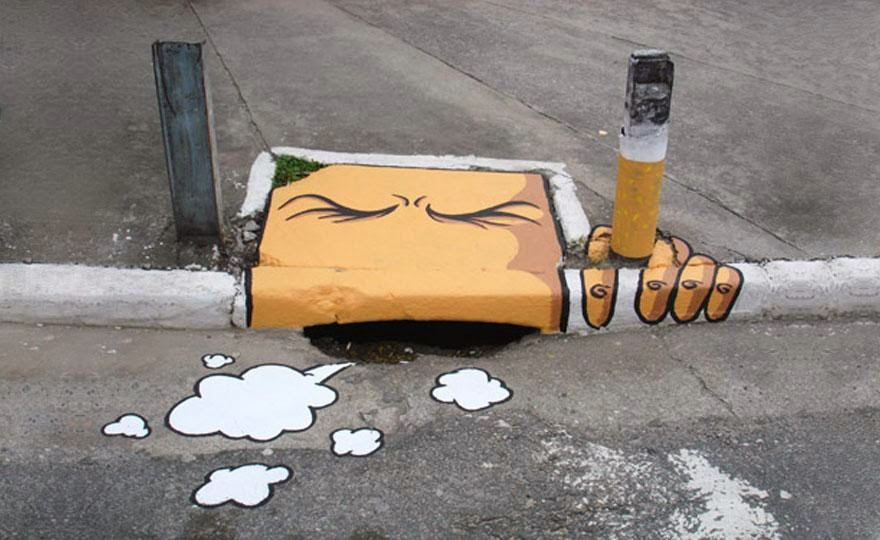 28 Pieces Of Street Art That Cleverly Interact With Their Surroundings - Cigarro