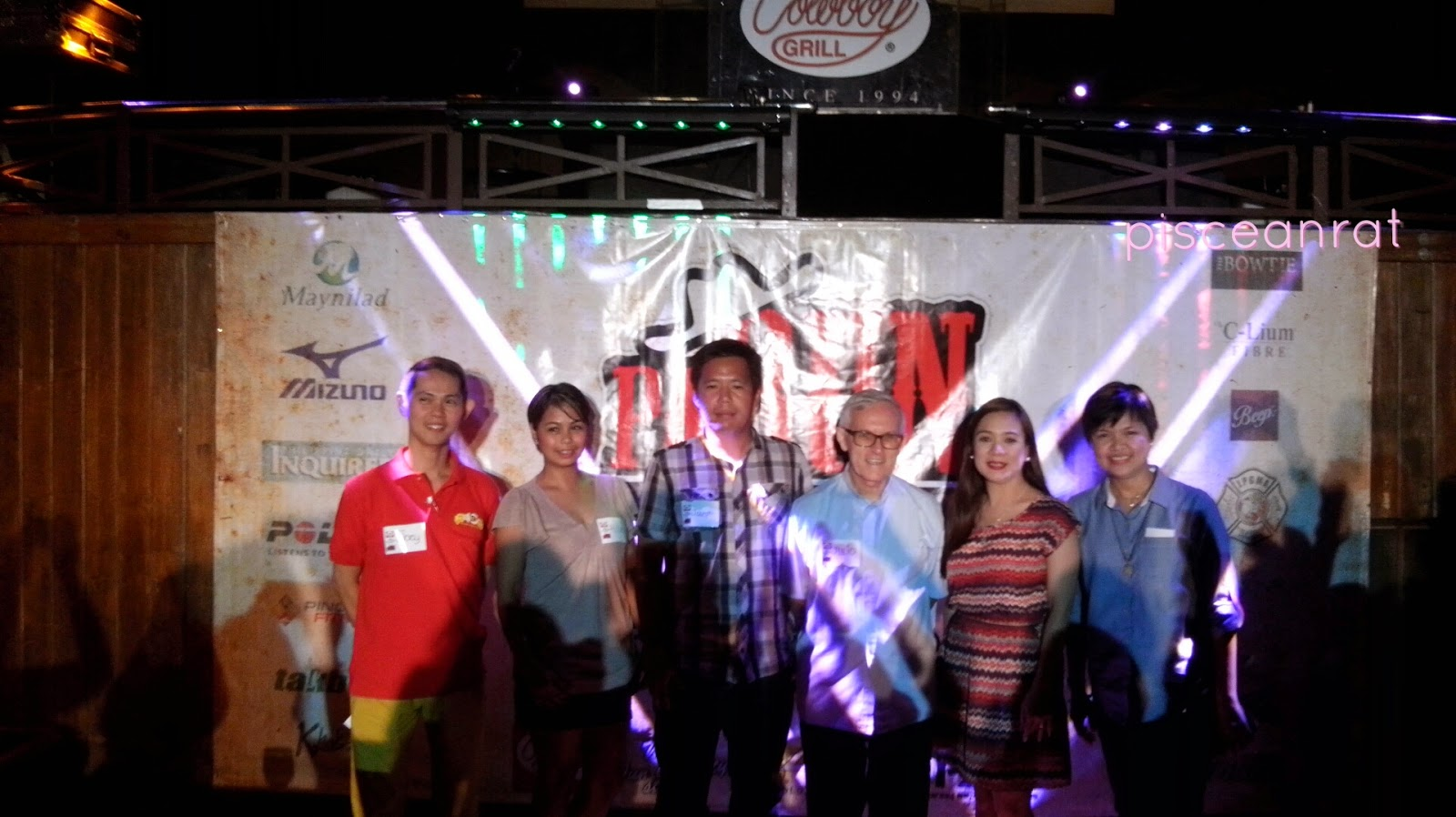 L-R: Joey of Cowboy Grill, Allen and Joseph of PAR, Fr. Julio of Cottolengo Filipino, Ms. Marianne and Jinky of CG.