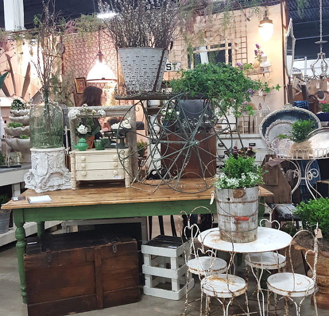 large booth filled with beautiful vintage treasures