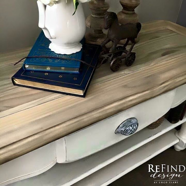 French Country Coffee Table with #weatherwoodstains