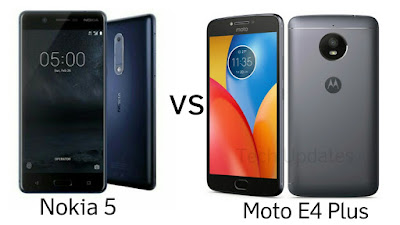 Nokia 5 vs Moto E4 Plus