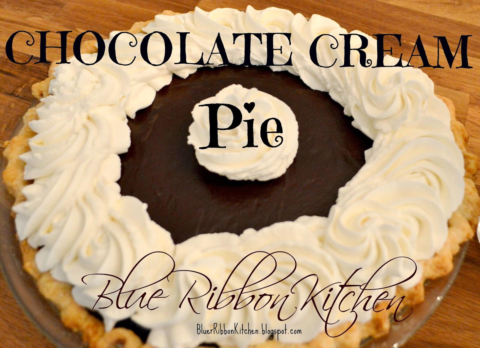 Blue Ribbon Kitchen Chocolate Cream Piea Winner