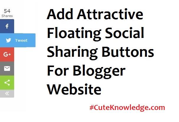 WordPress Type Floating Social Media Buttons For Blogger