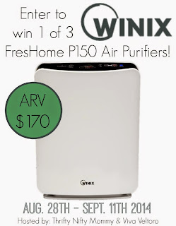 Enter to win the Winix Air Purifier Giveaway. Ends 9/11.