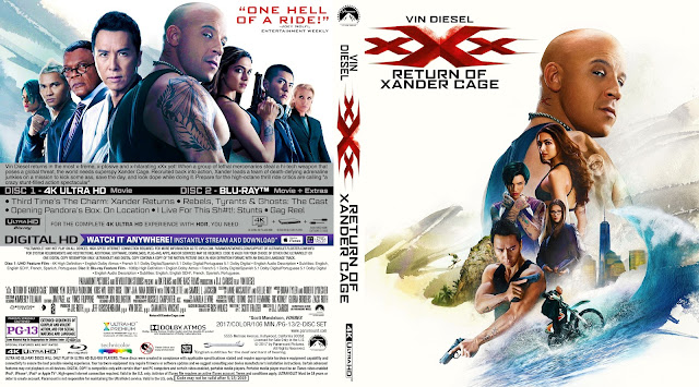 xXx: Return of Xander Cage 4K Bluray Cover