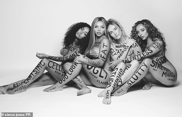Little Mix poses naked for new song promotion