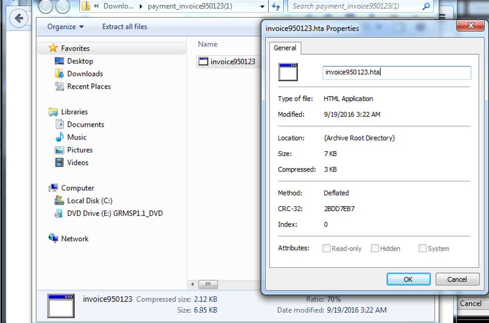 HTA Loader with Powershell Invocation -> System Compromise via CVE