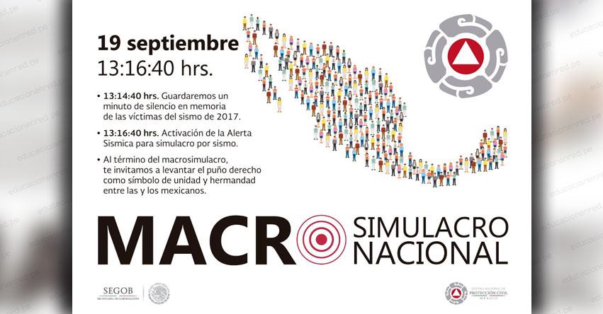 México se alista para un Macro Simulacro de Sismo este 19 de Septiembre (M7.2) CDMX 19S - SSN - ssn.unam.mx