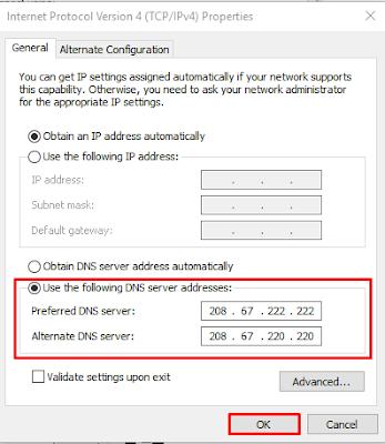 Mengubah Setting DNS