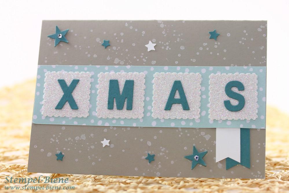 Stampin Up Weihnachtskarte, Stampin Up Thinlits Beeindruckende Buchstaben, Stampin up Winterkatalog, Stampin Up Bestellen, Match the Sketch