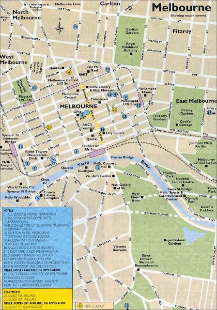 Mapa de Melbourne
