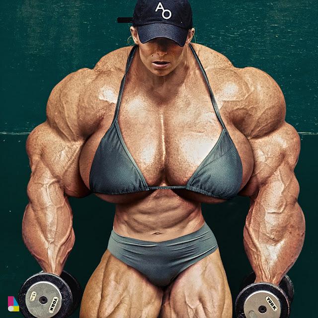 female muscle morph