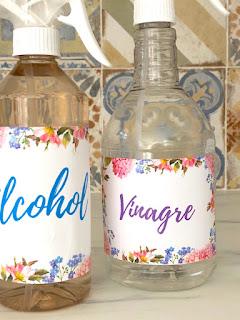 DIY: Limpiadores caseros a base de Vinagre y Alcohol con aceites esenciales.
