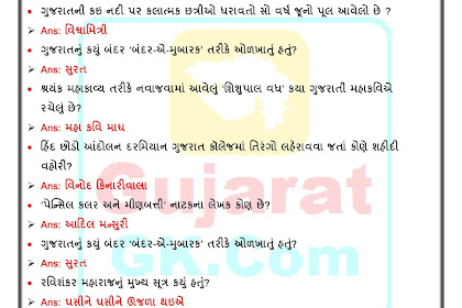 Gujarat Gk Quiz 04 IMP General Knowledge 04 Image
