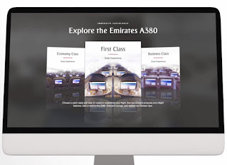 Source: Emirates. Emirates pioneers VR experience on its  website.