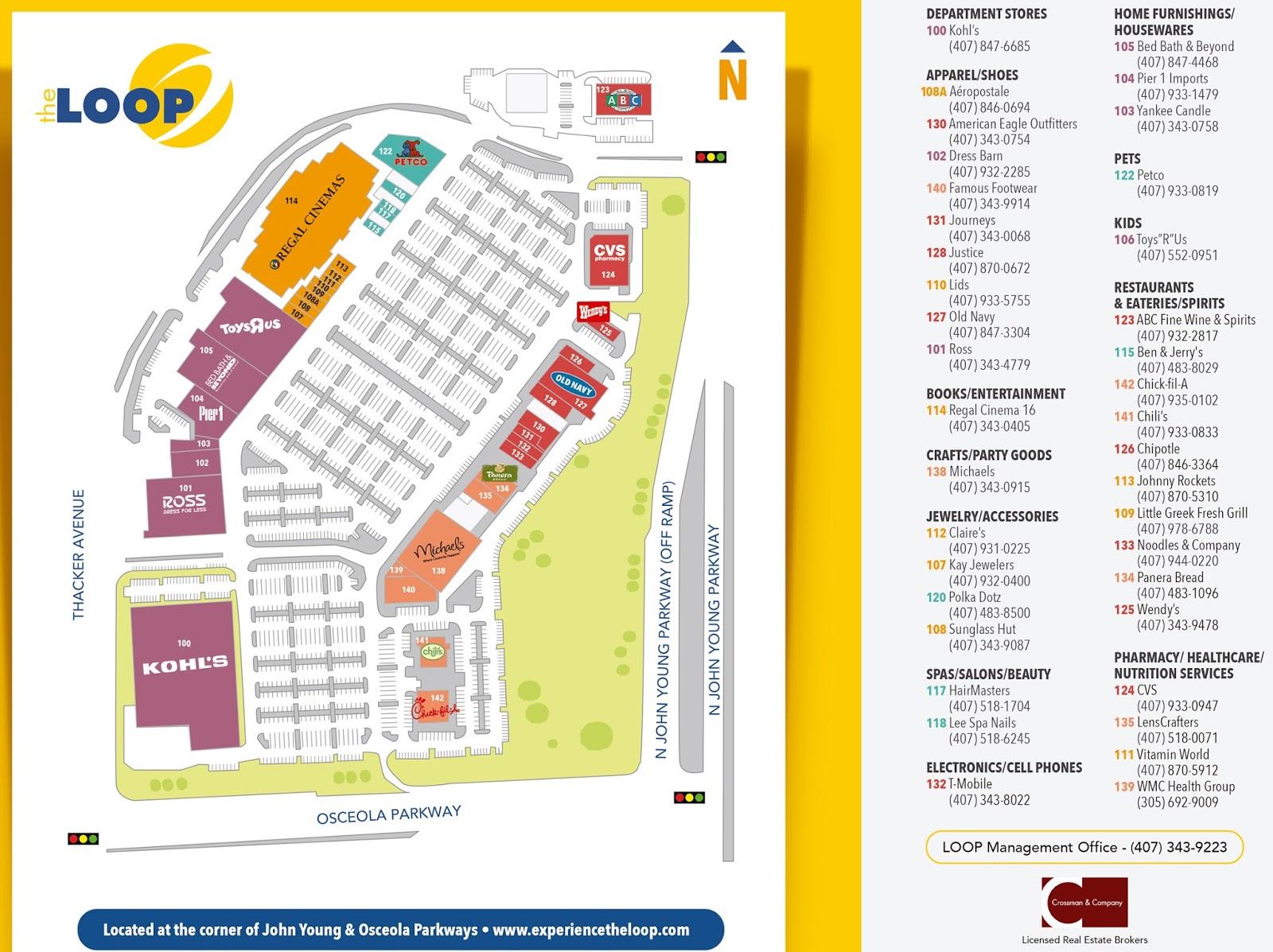 Mapa The Loop Kissimmee