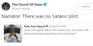 Church of Satan reacts to the alleged ''satanic plot'' to remove CJN Walter Onnoghen