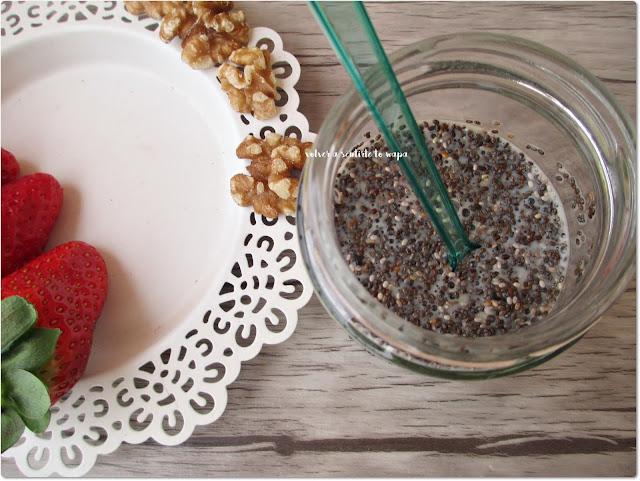 Pudding de semillas de chia, vainilla y fresas: paso a paso