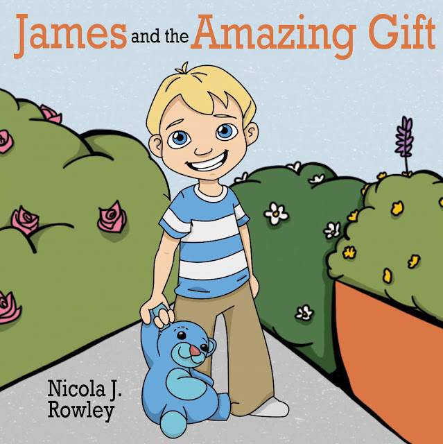 The Cover of the Delightful Book James and the Amazing Gift