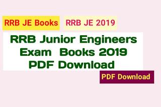 RRB JE Books PDF 2019