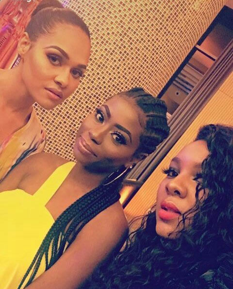 Wizkid and Davido's exes, Tania and Sophie, hang out