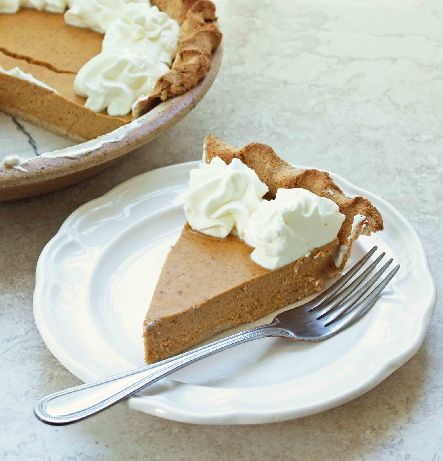 It isn't Thanksgiving without a slice of Pumpkin Pie from I Breathe I'm Hungry!