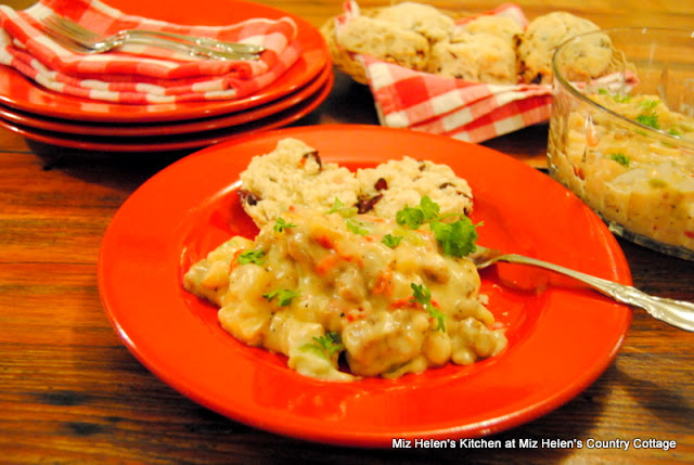 Cranberry Biscuits and Sausage Gravy at Miz Helen's Country Cottage