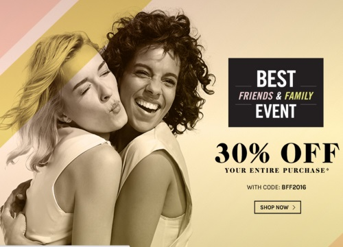 Naturalizer 30% Off Best Friends & Family Event Promo Code