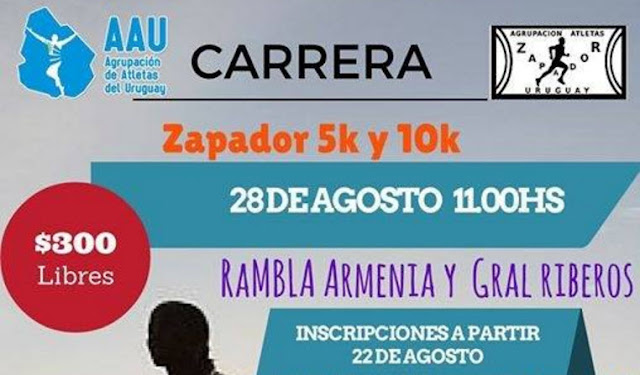 10k Zapadores (AAU, Montevideo, 28/ago/2016)