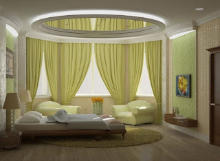 cuarto en crema y verde
