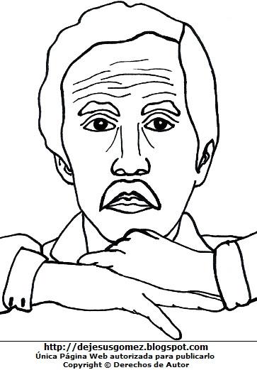 Dibujo de Jorge Eduardo Eielson para niños para colorear o pintar. Ilustración de Jorge Eduardo Eielson de Jesus Gómez