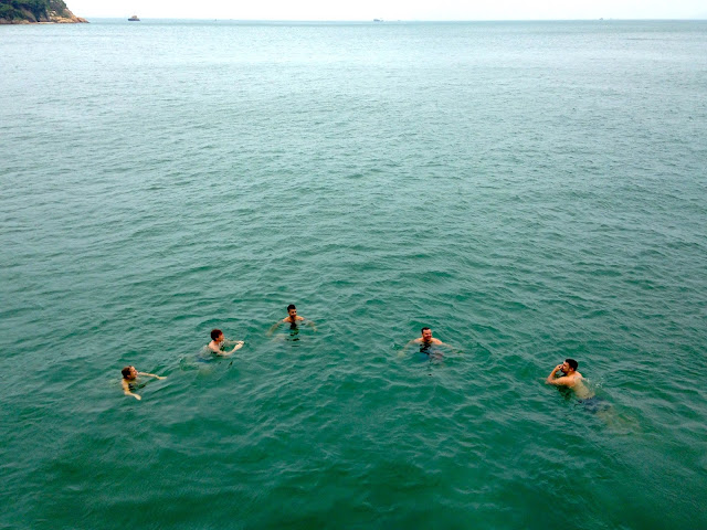 Swimming in the sea from the junk boat | Lamma Island, Hong Kong