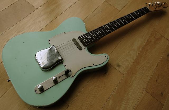 grail guitars sold grail surf green 50 39 s tele. Black Bedroom Furniture Sets. Home Design Ideas