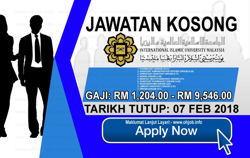 Jawatan Kerja Kosong International Islamic University Malaysia - IIUM logo www.ohjob.info februari 2018